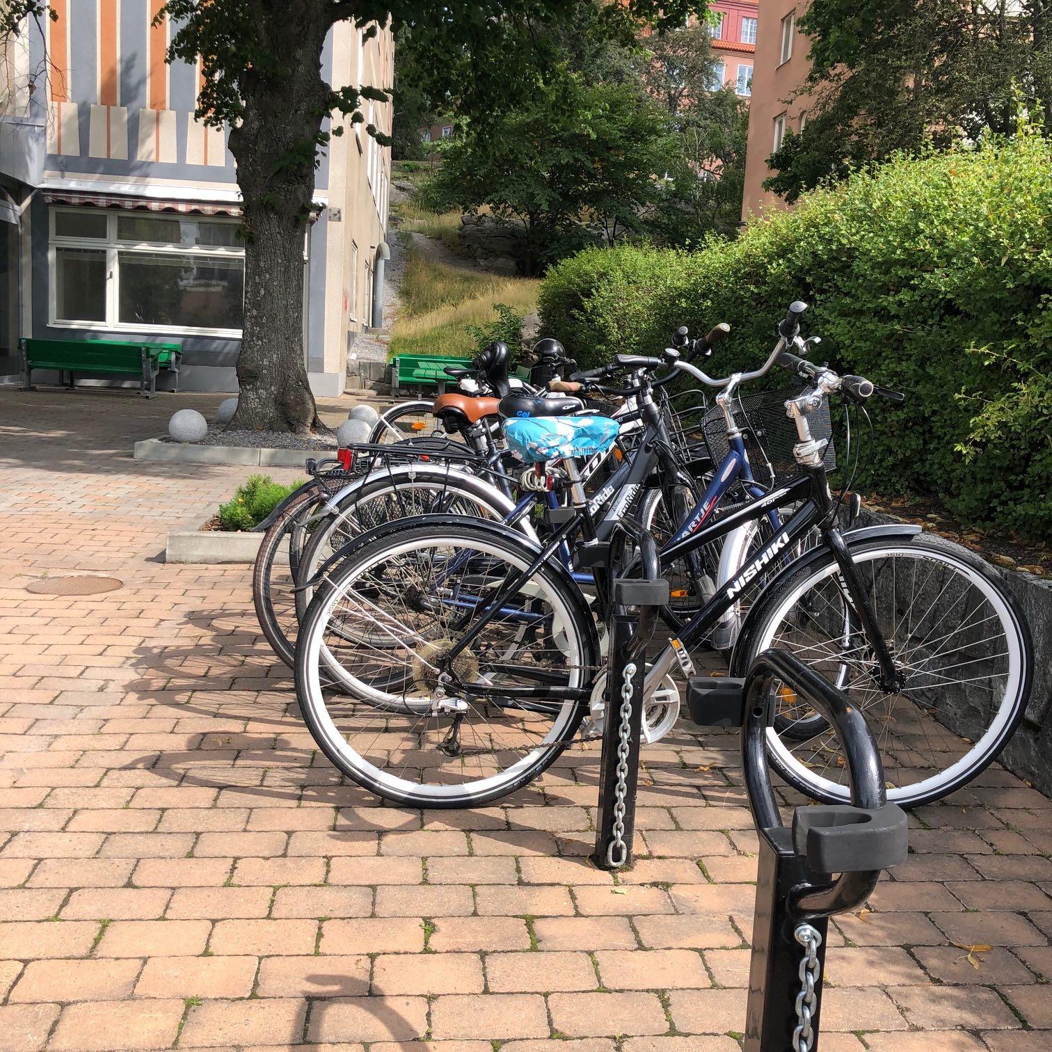 Bike parking Idun Barnklinik