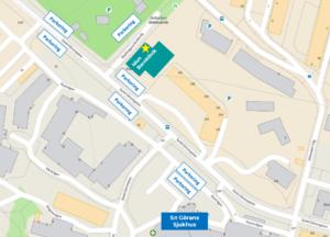 Hitta till Idun Barnklinik Kungsholmen Parkering